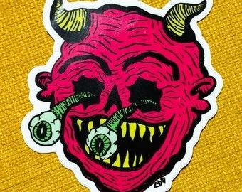A-Ooo-ga Devil - vinyl sticker