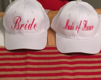 Bride,maid of honor, & bridesmaid hats!