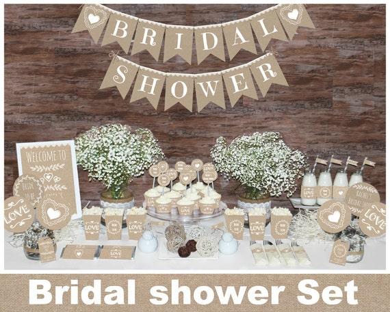 Rustic bridal shower decorations Bachelorette party
