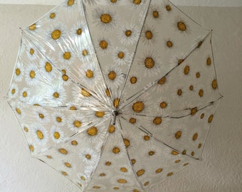 Vintage Daisy Umbrella