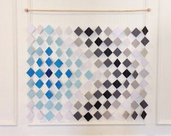 Diamond & Arrow Backdrop // Wall hanging // Wall Art // Ombre Art // Ombre Wall Art // Ombre Home Decor