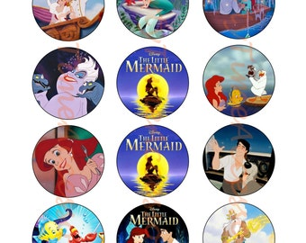 The Little Mermaid Edible Cupcake/Cookie Toppers for Birthday or Other Special Occasion!