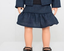 """American Girl® Doll clothes skirt 18"""" Doll clothes handmade doll clothes tiered ruffle skirt"""