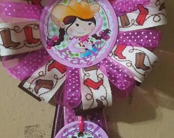 Little Cowgirl Corsage Baby Shower, Birthday