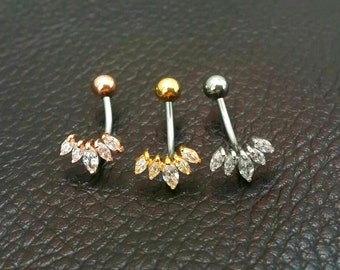 CZ Crown Belly Button Ring, rose gold tiara belly rings gold belly rings small belly rings crown naval ring belly piercing belly jewelry