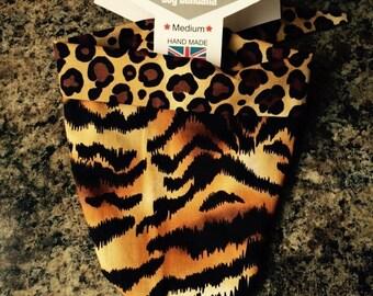 Animal print dog bandana