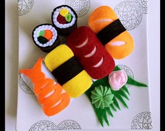 sushi felt play food