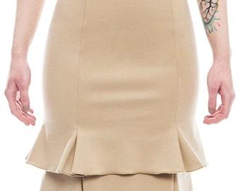 SKIRT / tulip skirt / woman / winter/ beige / black / bicolor / 2015 / made in Italy / handmade / italian brand