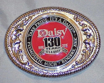 Daisy 130th Anniversary Red Ryder  Limited Edition Belt Buckle SILVER.