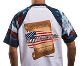 White Patriotic Constitution Front & Back T Shirt