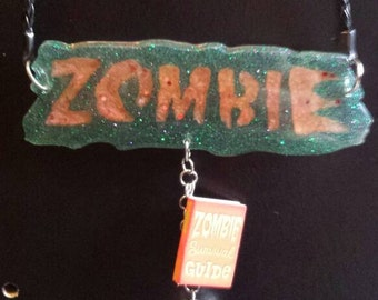 Night Of The Living Dead Zombie Statement Necklace!