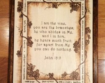 I am the Vine, John 15:5 Greek Plaque