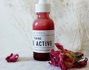 Organic Rose Active Toner, Moisturizing Rose in Lipid Delivery System, Rose Skin Conditioning, Organic Rose Treatment, Rose Toner