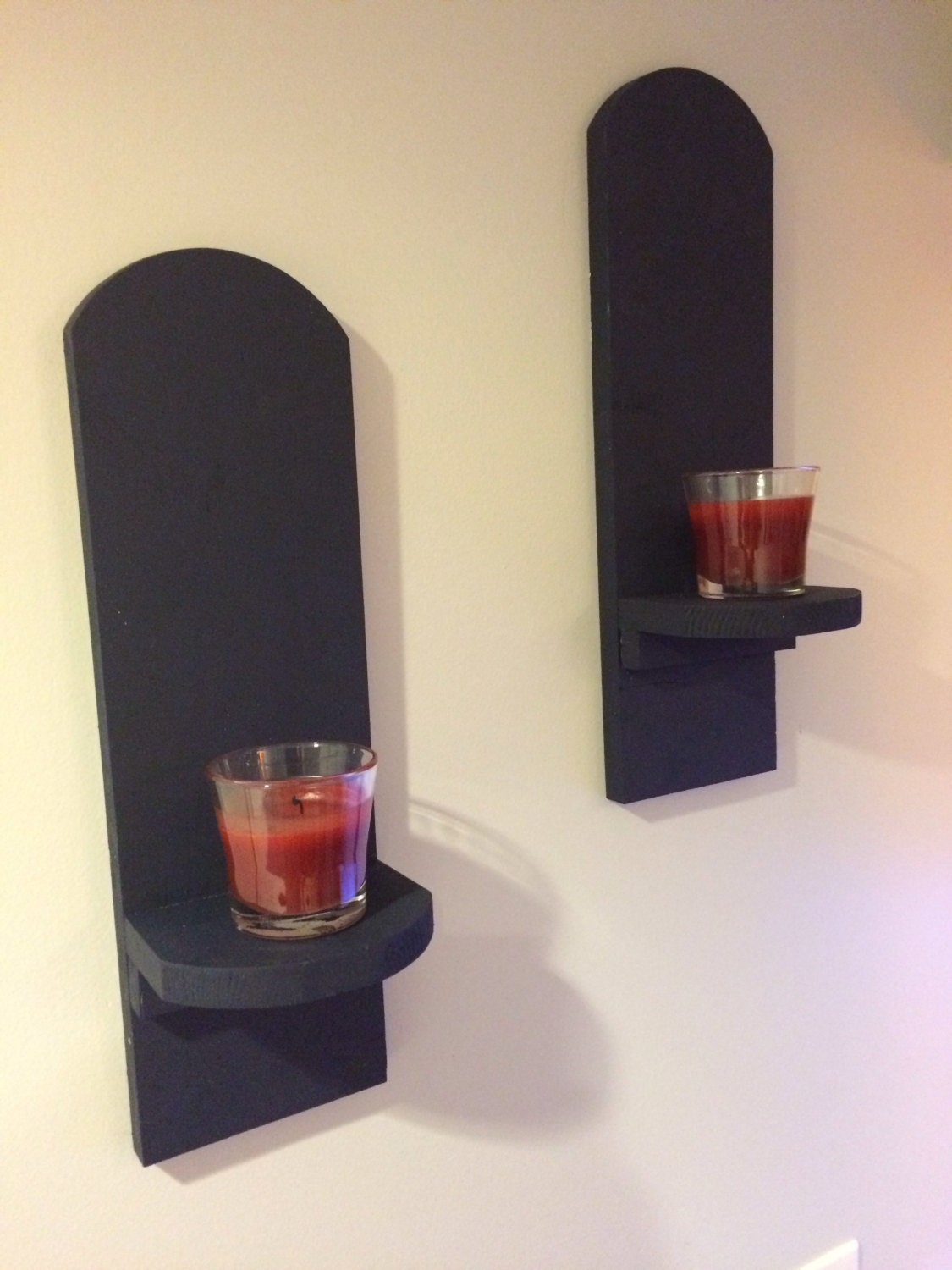 Wall Art Supply Holder : Wall mounted candle holders by code woodworking on etsy