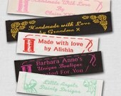 """500 Personalized Sewing Labels - 1"""" Wide, 100% Woven!"""