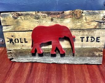 Handmade University of Alabama Roll Tide plaque