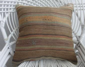 brown pillow 18x18 india furniture chair cushion pastel kilim cover boho fabric 18x18 kilim pillow throw pillow body pillow case 18 x 18 579