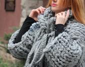 Chunky Knit Cardigan /  Chunky knit Jacket / Hand knit Cardigan Thick knit Cardigan / Uniqe Gift for her, Chunky knit Sweater, Birthday Gift