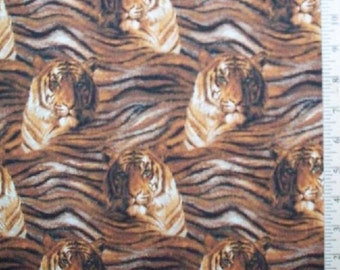 Tiger and Skin Fabric, Home Decor Quilt or Craft