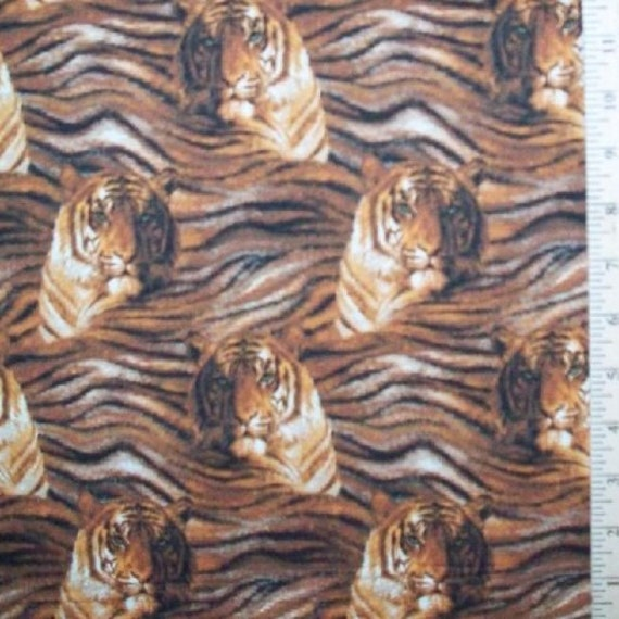 Tiger And Skin Fabric Home Decor Quilt Or Craft From Lynnsdraperies On Etsy Studio
