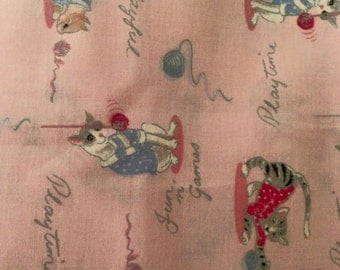 Playful Kitten Fabric