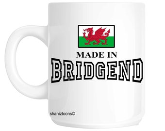 Made Born In Bridgend Birthday Gift Mug shan450