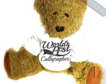 Calligrapher Thank You Gift Teddy Bear
