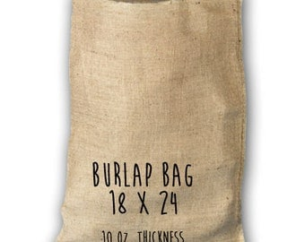 Dozen Burlap Bags 18 x 24 - Set of 12