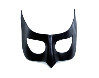 Leather Mask - Hero / Heroine - Horned Leather Party Cosplay Mask