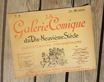 """Album """"La Galerie Comique du XIXe siècle"""" numéro 9 Caricaturistes Contemporains 1896 antique"""