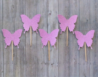 Cupcake Toppers, Butterfly Cupcake Toppers, Baby Shower Cake Topper, Birthday Party Decorations, Girls Party Picks, Party Picks