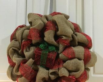 Burlap Christmas Present