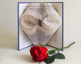 Meaningful Anniversary Gift for Him, Folded Book Art, Infinity Sign