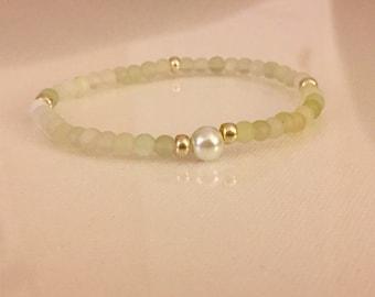 Green Jade Beaded Bracelet