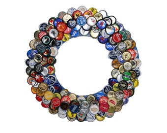 Bottle Cap Wall Art bottle cap wreath bar decor beer bottle caps beer bottle