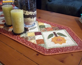 Fall Flowers Table Runner
