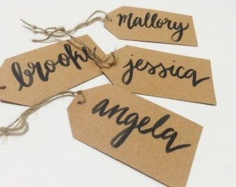 Custom Calligraphy Gift Tags