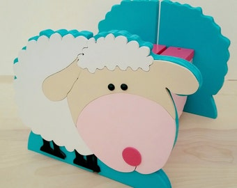 Little Blue Lamb Step stool, Wooden Step Stool for kids, Toddler Step Stool, Child's Lamb Stool, Springtime Stool, Valentines Day, Easter