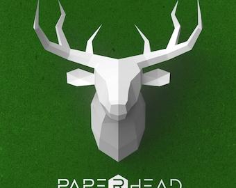 Polygonal deer from a paper | Сardboard | DIY | Template |