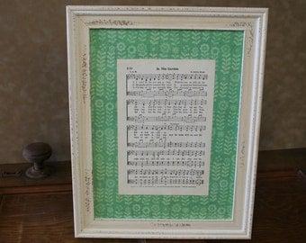 "Framed Vintage Hymns- ""In the Garden"""