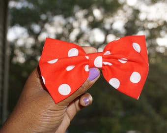 Large polka dots bow