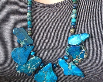 Blue Stone Single Necklace