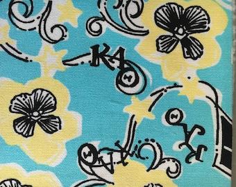 Kappa Alpha Theta Lilly Pulitzer* fabric