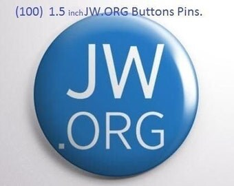 100 1.5 Inch JW.ORG Buttons Pins.