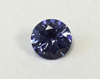 Tanzanite #M124. Round Brilliant cut 7 mm. 1 Ct. Monosital Created gemstone.