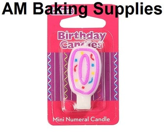 New - Candle Numbers - 0-4 - Birthday, Celebration Party