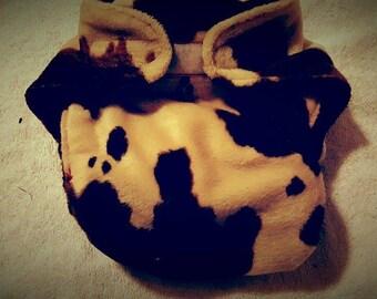 Cow Fleece Diaper Cover