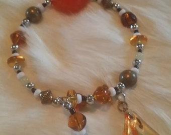 Orange and yellow bracelet