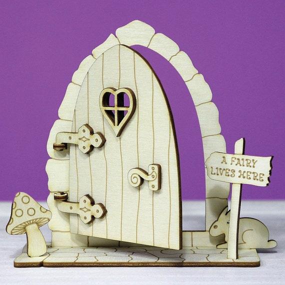 Items similar to fairy door 3d opening wooden elf house for Fairy door shapes