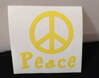 Peace with Peace sign vinyl sticker, vinyl decal
